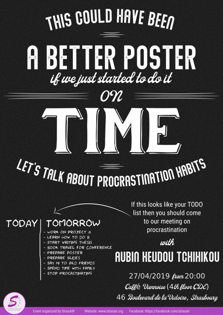 Procrastination Meeting - April 27th, 2019