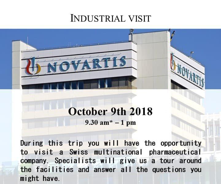 Industrial visit: Novartis - October 9th, 2018